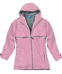Monogrammed Rain Jacket, Light Pink