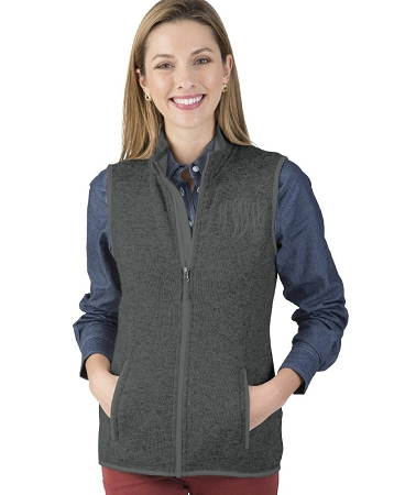 Pacific Heathered Vest - Charcoal