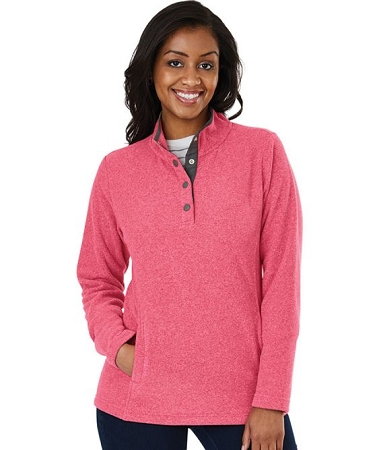 Bayview Fleece Pullover - Red Heather