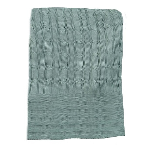 Bamboo Cable Knit Blanket - Clover