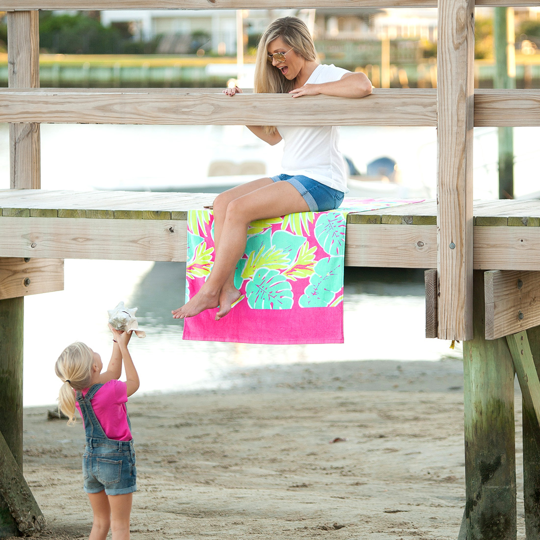Monogrammed Beach Towel - Totally Tropics
