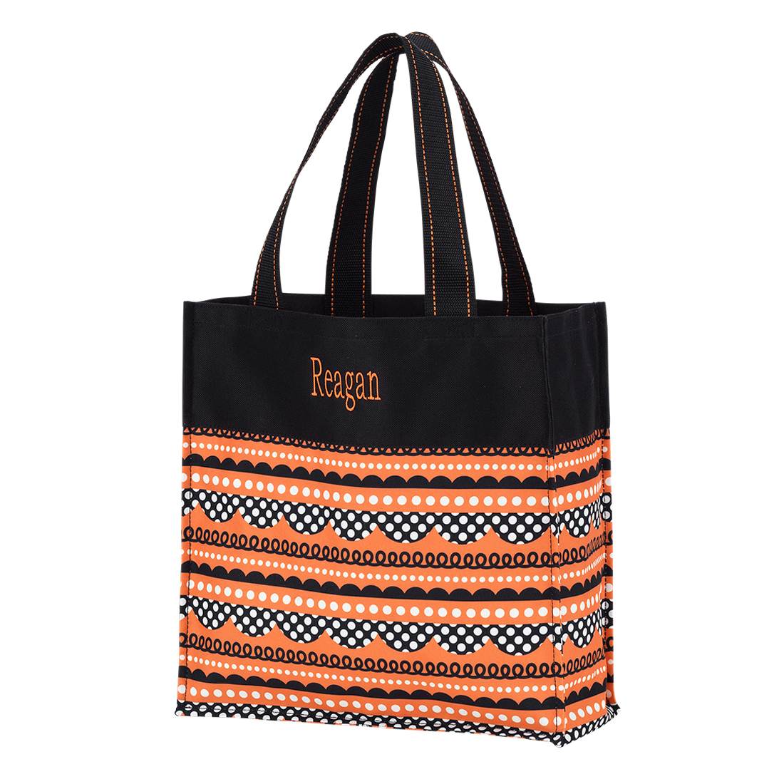 home bags monogrammed halloween tote trick or treat
