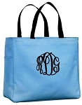 Monogrammed Tote, Carolina Blue