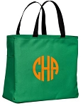Monogrammed Tote, Kelly Green