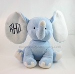 Monogrammed Blue Plush Elephant