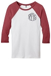 Monogram Baseball Jersey - Heathered Red