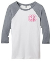 Monogram Baseball Jersey - Heathered Gray