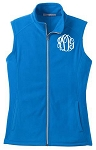 Monogrammed Micro Fleece Vest - Light Royal