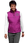 Monogrammed Puffer Vest - Bright Berry