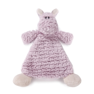 Monogrammed Rattle Blankie - Harlow Hippo