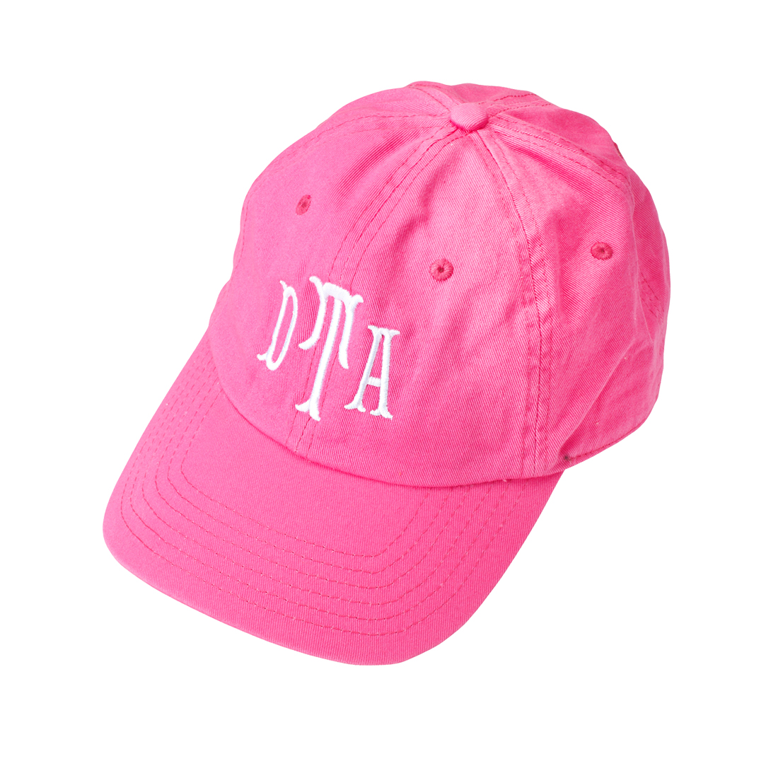 monogrammed baseball cap pink