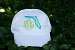 Monogrammed Hat with Florida Applique'
