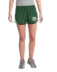 Monogrammed Running Shorts - Forest Green