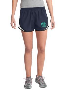 Monogrammed Running Shorts - Navy
