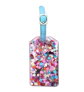 Monogrammed Confetti Luggage tags
