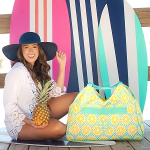Monogrammed Beach Bag - Main Squeeze