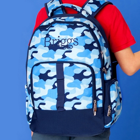 WB Monogrammed Backpack - Cool Camo