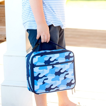 Monogrammed Lunch Bag - Cool Camo