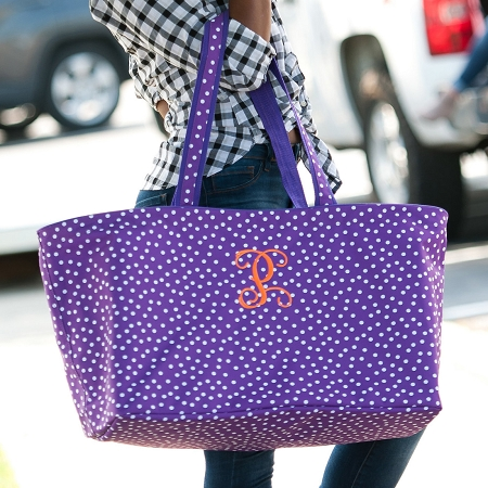 Monogrammed Ultimate Tote - Purple