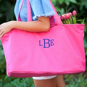 Monogrammed Ultimate Tote - Hot Pink