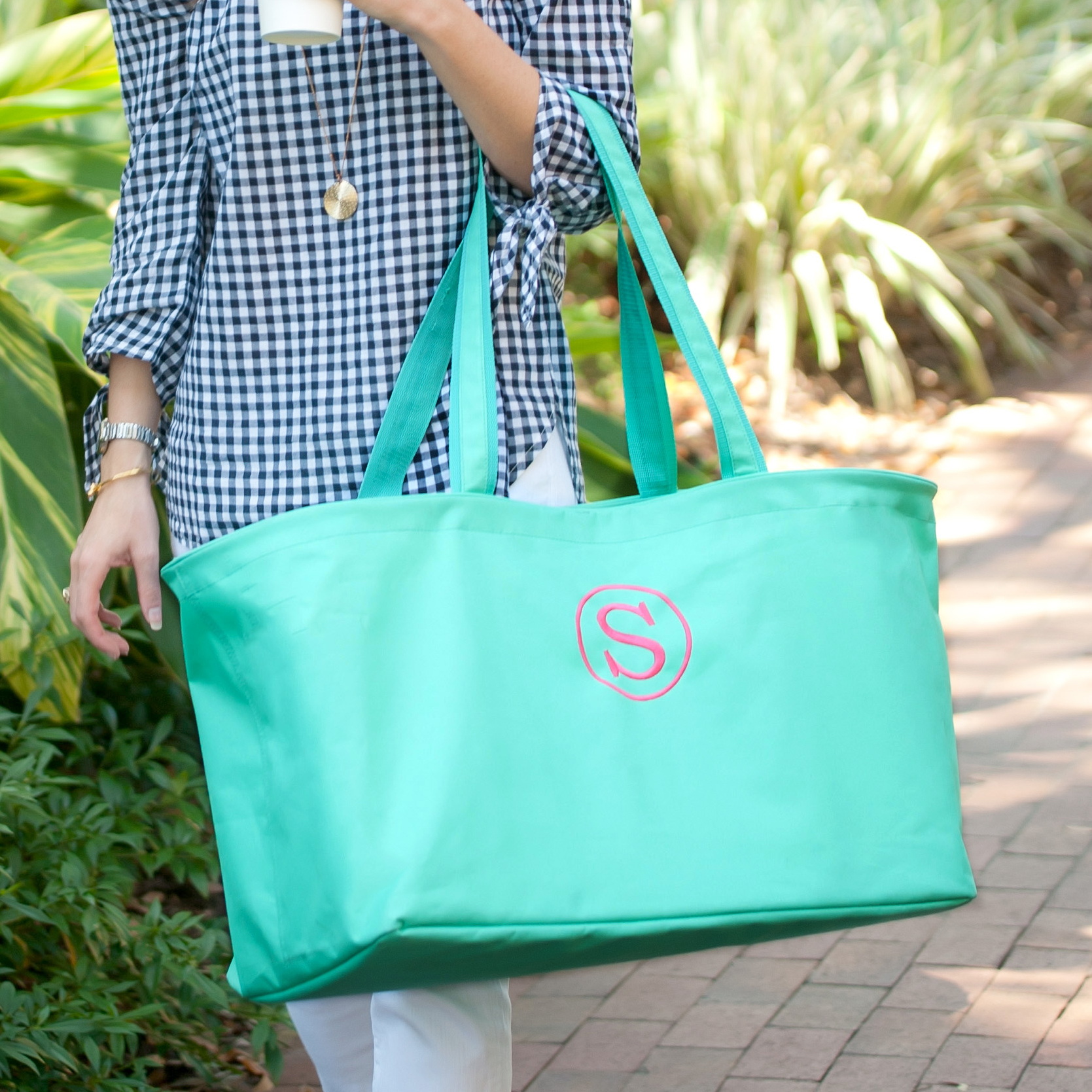 Monogrammed Ultimate Tote - Mint