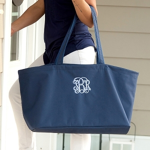 Monogrammed Ultimate Tote - Navy