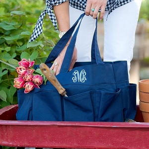 Monogrammed Carry All Bag - Navy