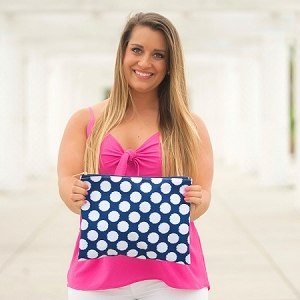 Monogrammed Zip Pouch - Polly