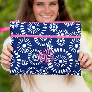 Monogrammed Zipper Pouch - Riley