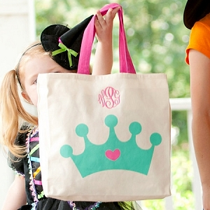 Monogrammed Canvas Tote - Crown