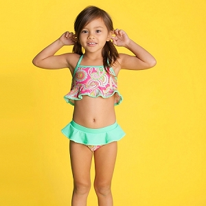 Monogrammed Girls' Swim Set - Lizzie