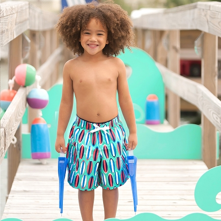 Monogrammed Boys' Swim Trunks - Wave Rider