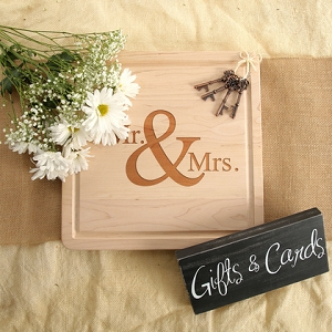 Maple Cutting Board - Mr. & Mrs.