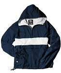 Monogrammed Anorak, Striped Navy