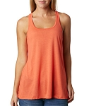 Bella Flowy tank with monogram, Coral Size SMALL