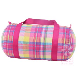 Popsicle Plaid Duffel