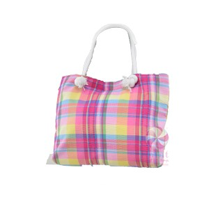 Popsicle Plaid Tote