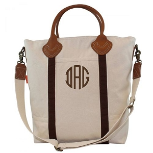 Monogrammed Flight Travel Bag - Brown