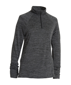 Ladies' Monogrammed Athletic Pullover - Black
