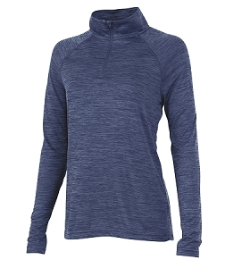 Ladies' Monogrammed Athletic Pullover - Navy