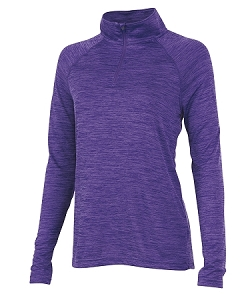 Ladies' Monogrammed Athletic Pullover - Purple