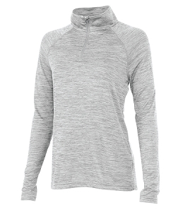 Ladies' Monogrammed Athletic Pullover - Gray