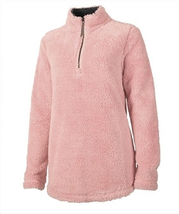 Monogrammed Newport Fleece - Powder Pink