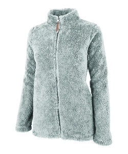 Monogrammed Newport Fleece Full Zip - Grey