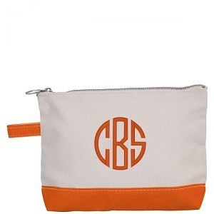 Canvas Cosmetic Bag - Orange