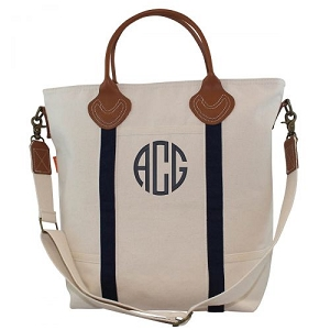 Monogrammed Flight Travel Bag - Navy