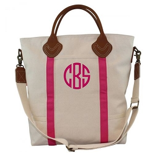 Monogrammed Flight Travel Bag - Hot Pink