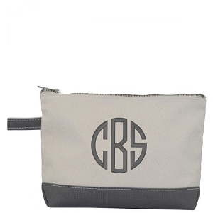 Canvas Cosmetic Bag - Gray