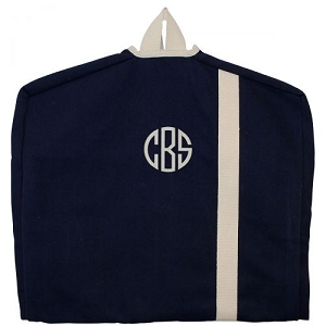 Monogrammed Garment Bag - Navy