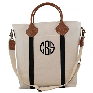 Monogrammed Flight Travel Bag - Black